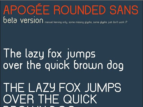 Apogee Rounded Sans Beta - font