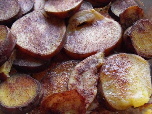 Batata doce com açúcar e canela