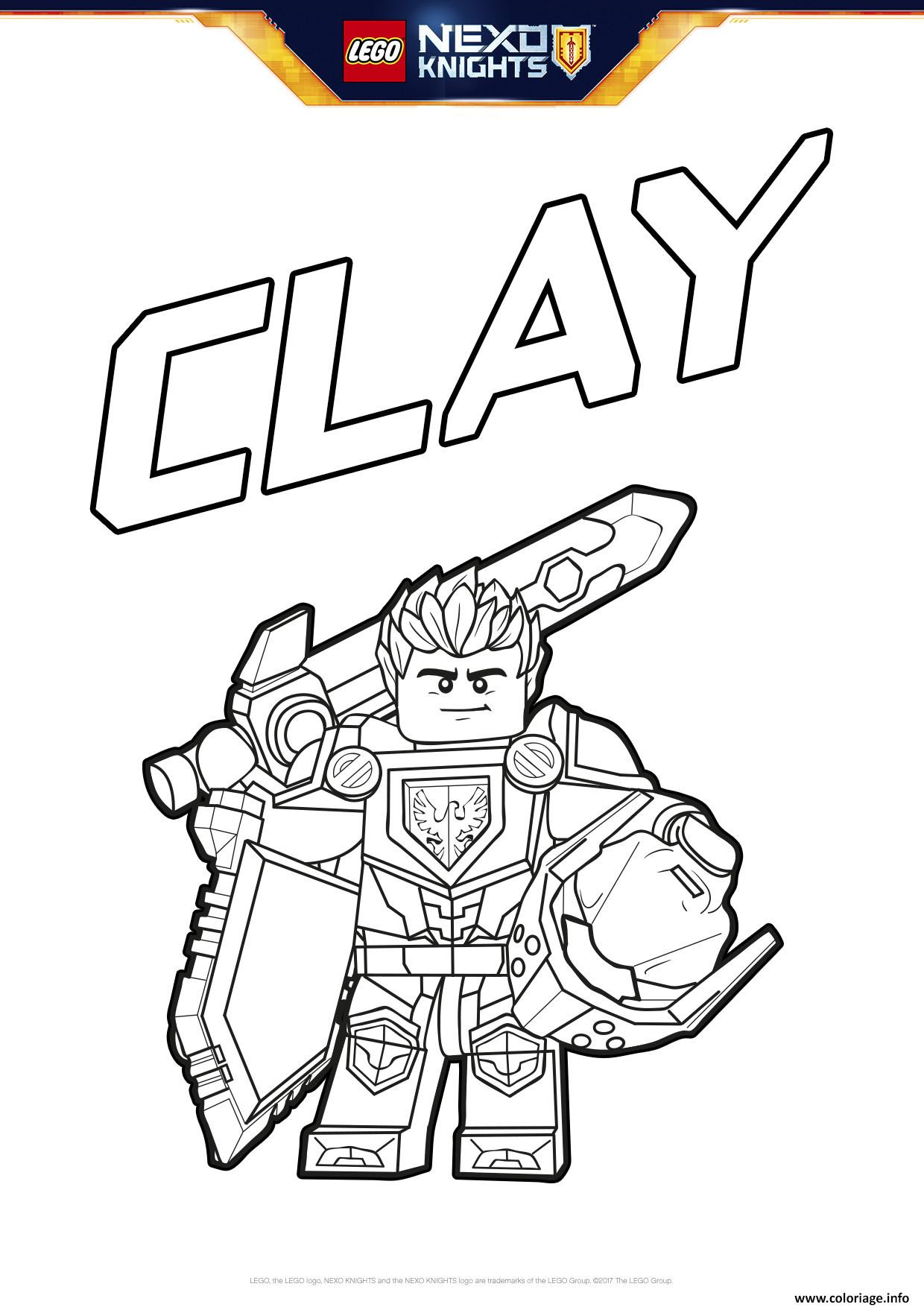 Coloriage Lego Nexo Knights Bouclier Clay Jecoloriecom
