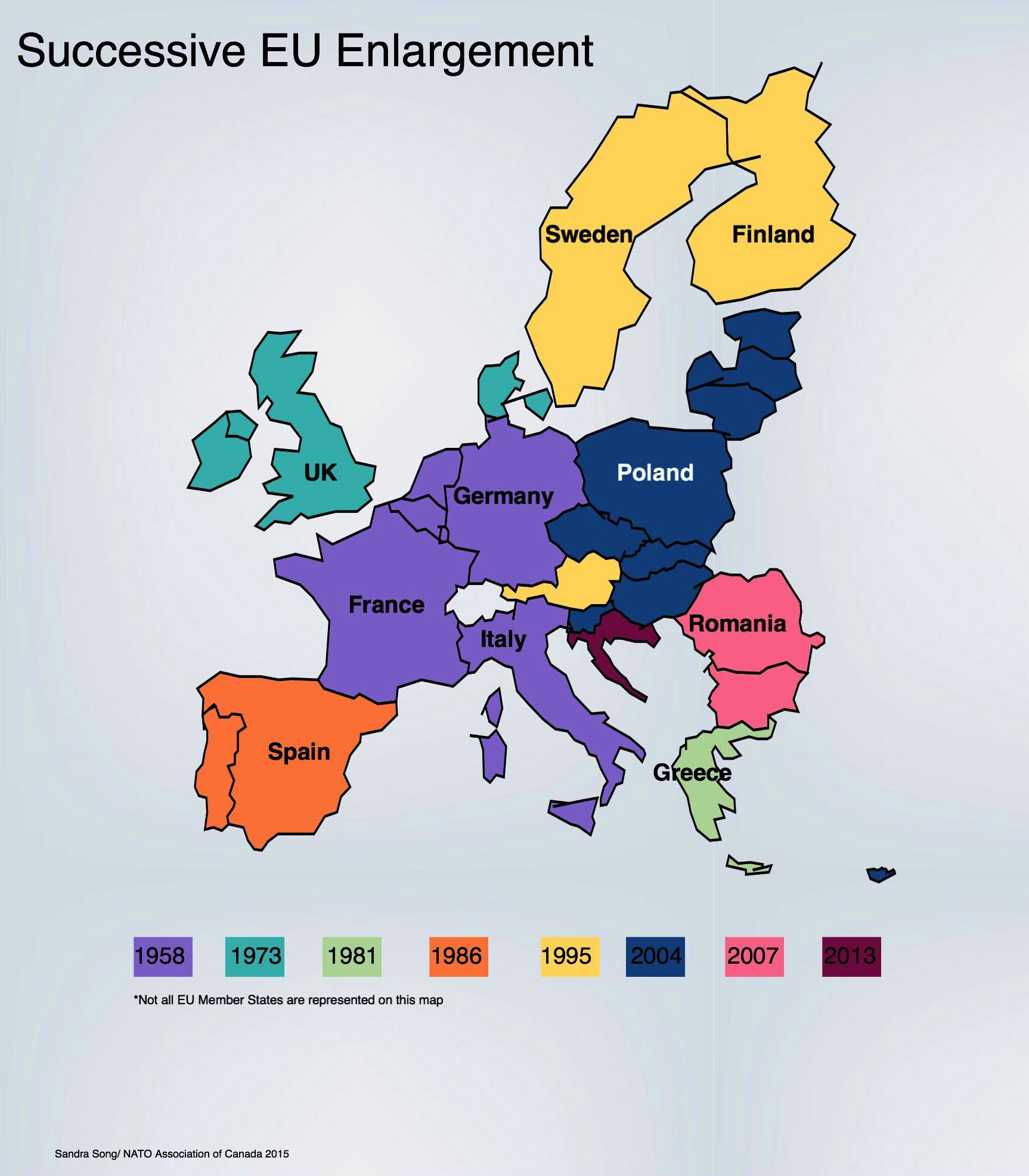 EU enlargement map