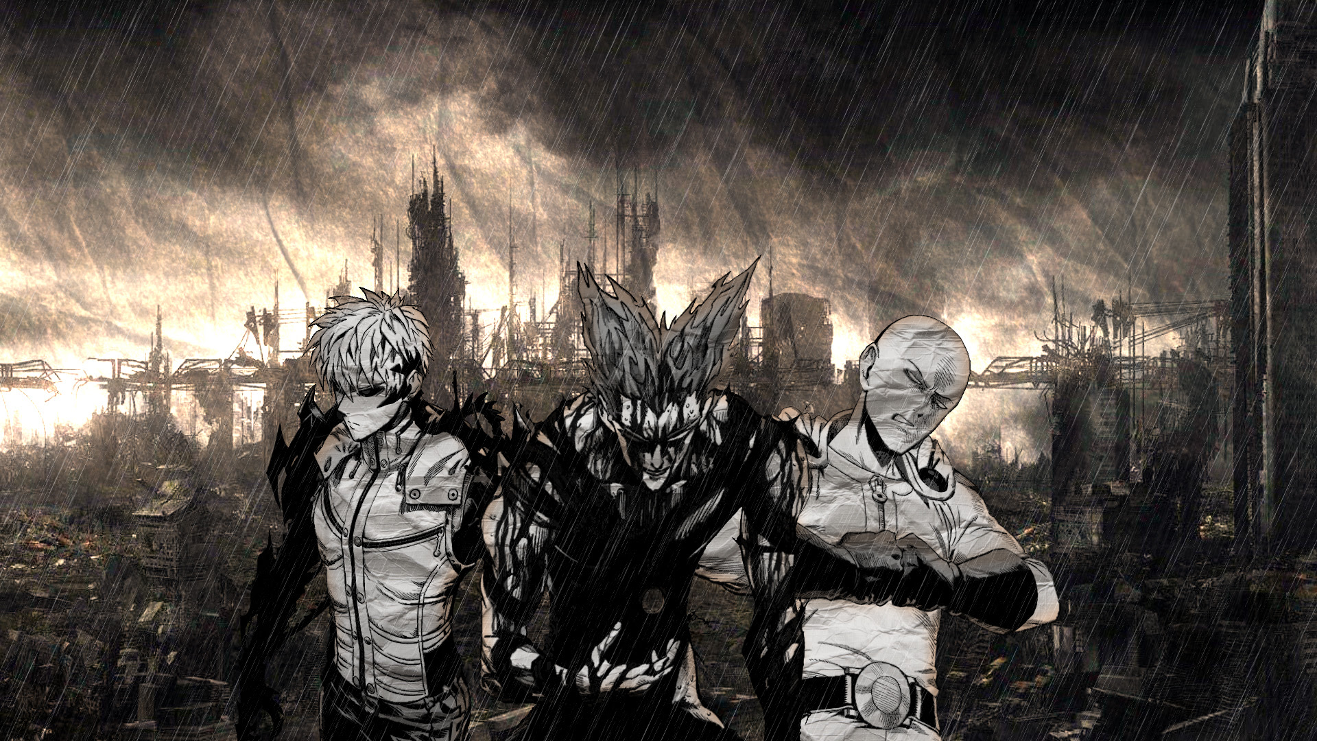 Onepunch Man Wallpaper Stagnation And Growth Minitokyo