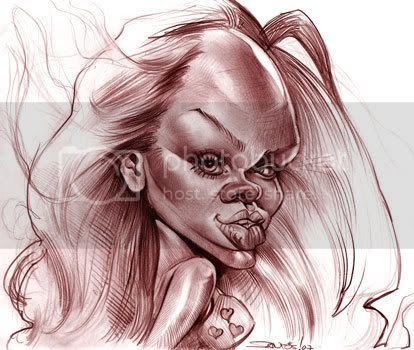 Rihanna caricature