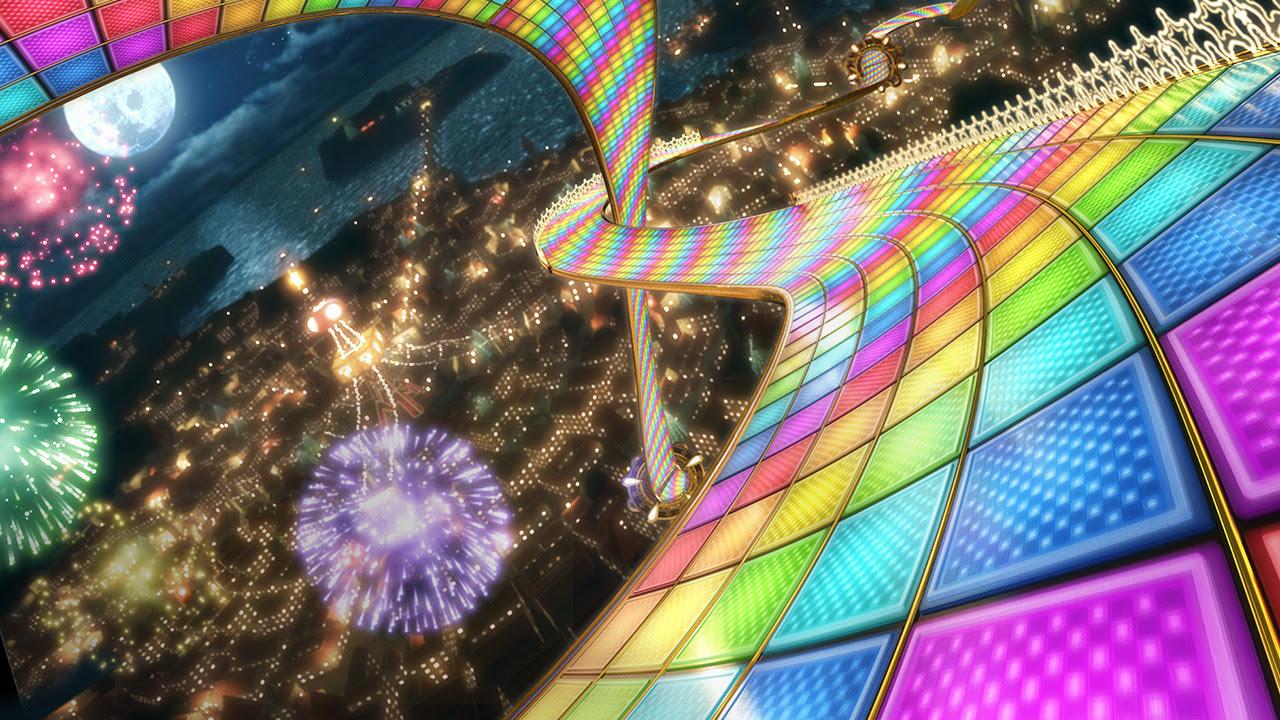 Mario Kart Rainbow Road Wallpaper