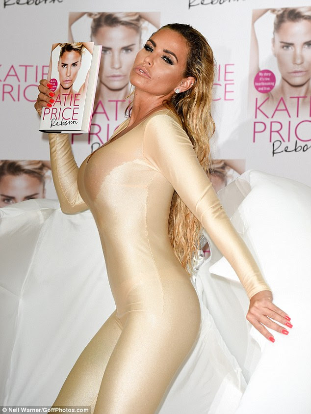 New release: Katie Price suffered an embarrassing wardrobe malfunction as she launched her latest autobiography, Reborn, at London's Word Studios on Wednesday
