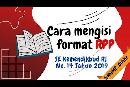 Cara Mudah Menyusun RPP SE Kemdikbud No. 14 Tahun 2019
