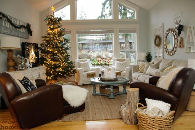 Our Christmas Living Room Christmas Home  Tour  Day 1
