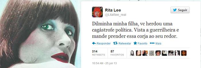 Rita Lee dá conselho para a Presidente Dilma