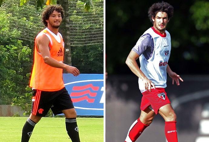 MONTAGEM - Arthur Flamengo e Alexandre Pato São Paulo (Foto: Editoria de arte)