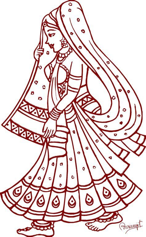 Free Indian Wedding Line Art, Download Free Clip Art, Free