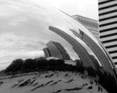 Chicago The Bean Cloud Gate Sculpture Millennium Park Black and White Skyline Urban Fine Art Photo Print Decor by Rose Clearfield on Etsy - RoseClearfield
