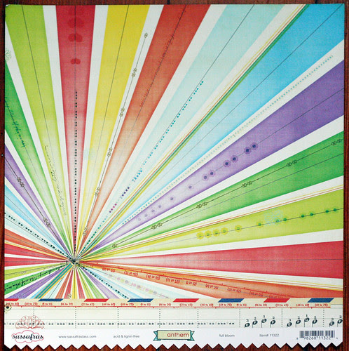 Start with an awesome scrapbook paper...
