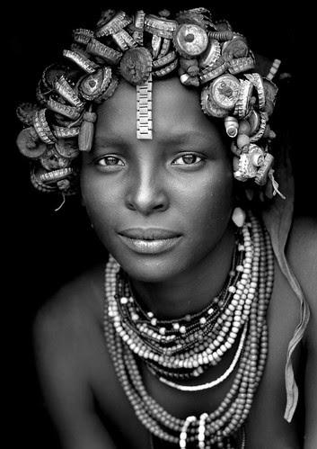 Daasanach tribe girl - Omorate Ethiopia por Eric Lafforgue