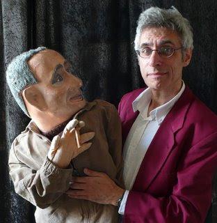 Ventriloquist Ian Saville and Bertolt Brecht dummy
