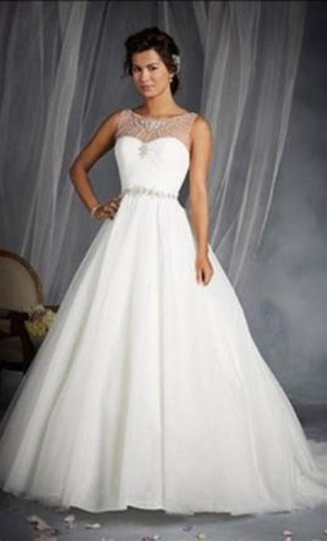 Alfred Angelo White Silver Shimmer Tulle Disney Princess