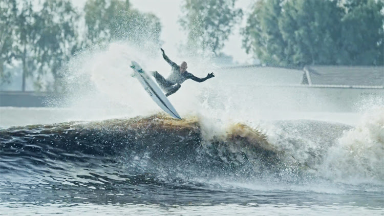 Kelly Slater: his man-made wave pumps barrels and flawless ramps