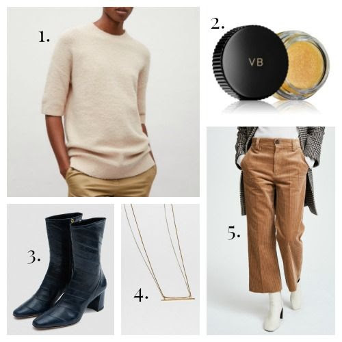 COS Jumper - Estee Lauder x Victoria Beckham Makeup - Trademark Boots - J. Hannah Necklace - Marc Jacobs Pants