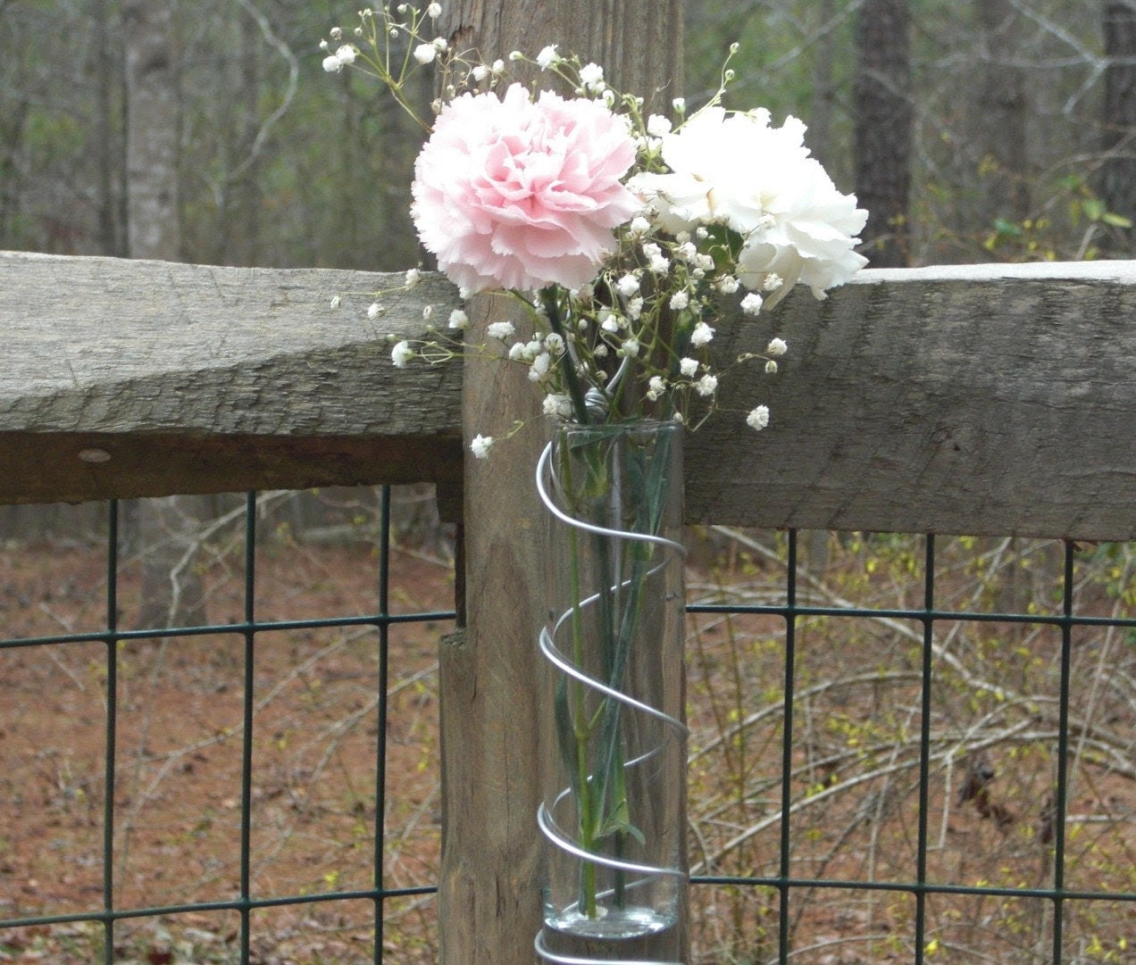 5 Hanging Vases Wedding Decoration Outdoor Garden by thefunkyshack