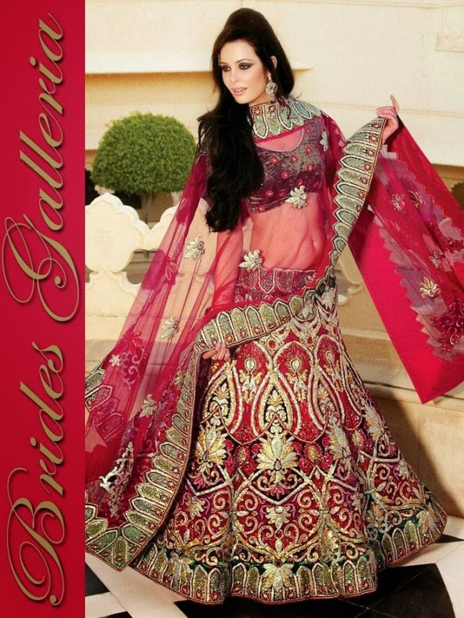 Indian-Bridal-Wedding-Lehangas-Velvet-Embroidered-Blouse-Fish-Cut-Lehenga-by-Brides-Galleria-8