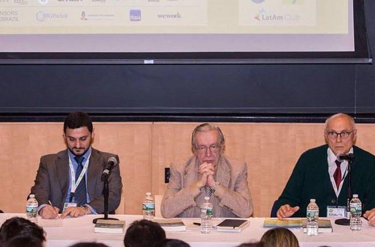 Olavo de Carvalho, Eduardo Suplicy, Hussein Kalout em Harvard