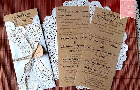 Wedding Card Malaysia   Crafty Farms Handmade : Doily