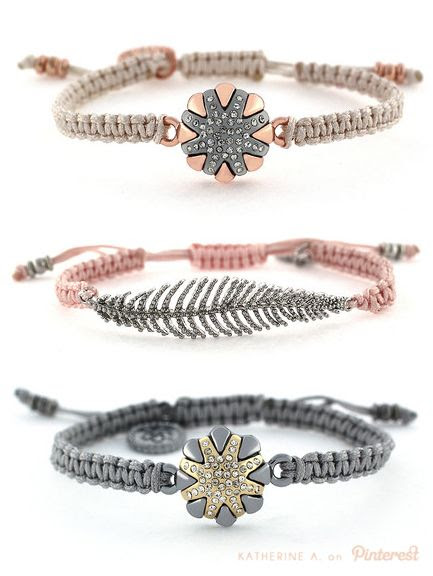 Jessica Simpson Bracelets in Rose Gold, Pink, and Pewter