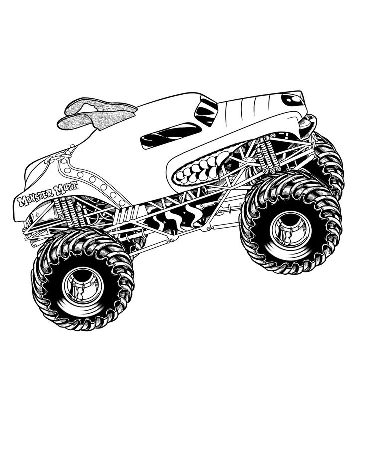 Monster Mutt Coloring Page - Coloring Home