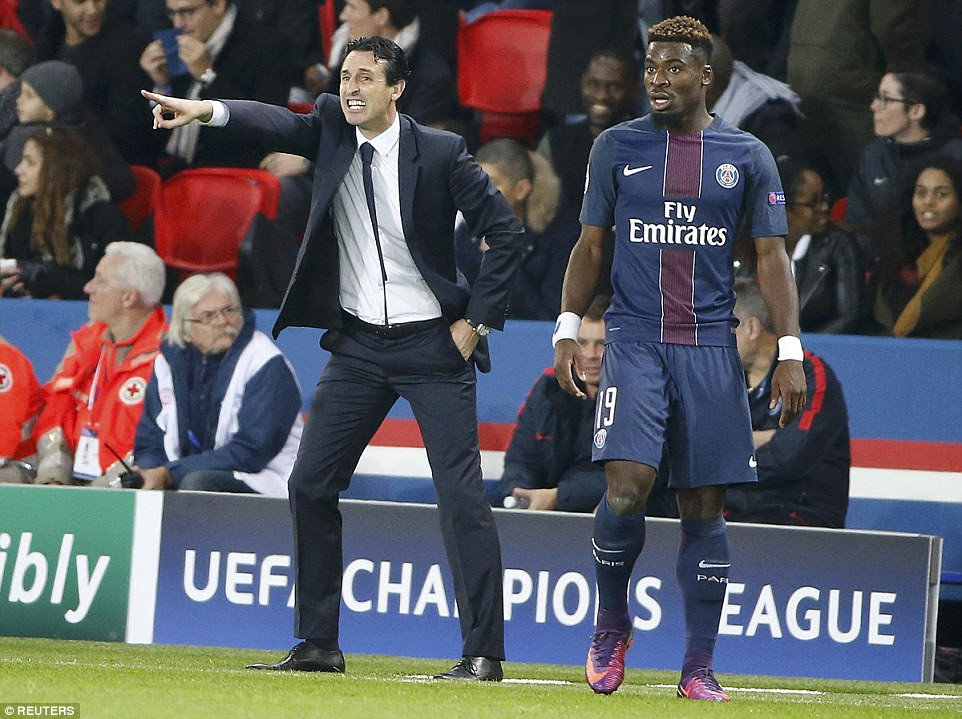 PSG manager coach Unai Emery reacts during the Champions League encounter with Basle on Wednesday evening
