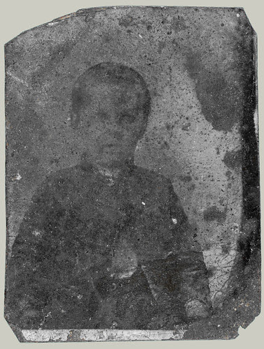 Head and shoulders portrait of a youngster