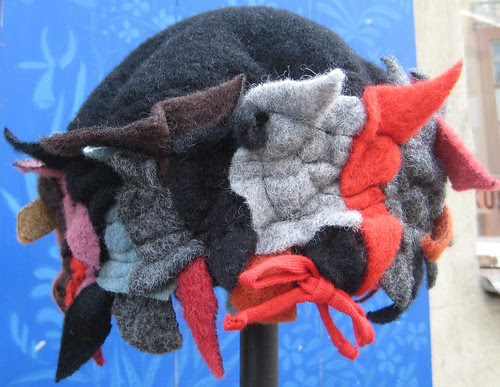 Felted hat in Tallinn by Anna Amnell