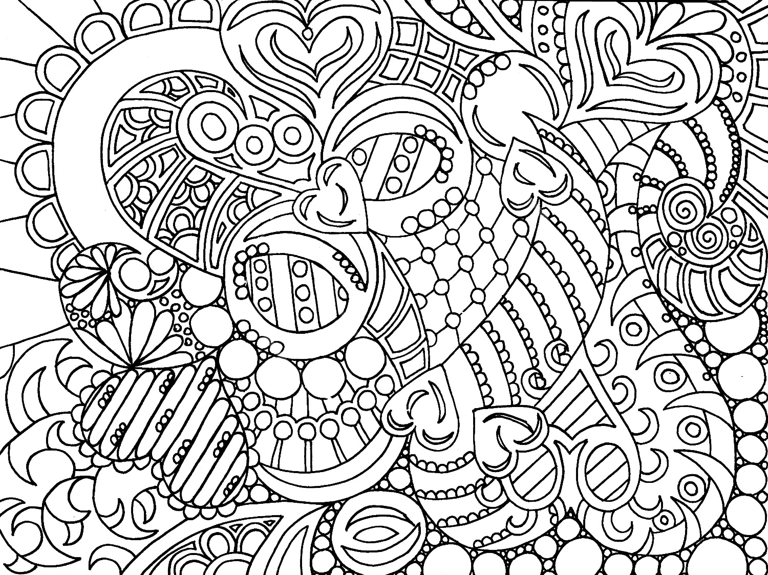 coloring pages of flowers for teenagers difficult PINTEREST