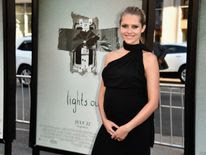 Teresa Palmer attends the Hollywood premiere of her supernatural horror film Lights Out