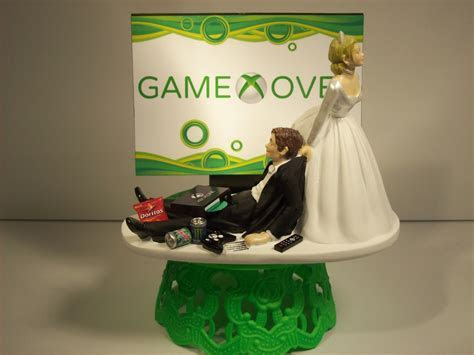GAME OVER Bride and Groom XBOX Funny Wedding Cake by mikeg1968