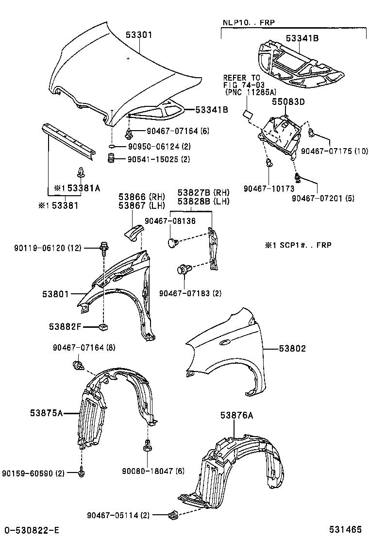 Toyotum Echo Engine Part Diagram