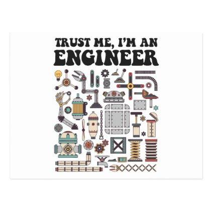 Trust me, I'm an engineer Postcard