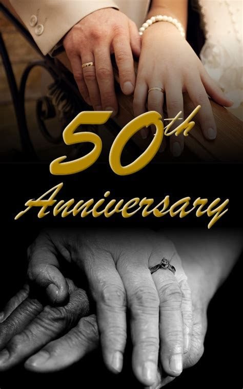 50th Wedding Anniversary Program Wording   Save the Date