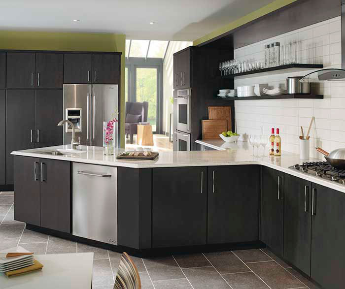 Dark Gray Kitchen Cabinets  Kemper Cabinetry