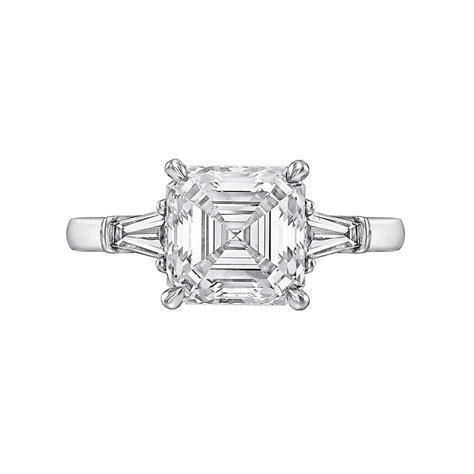 3.01 Carat Asscher Cut Diamond Ring   Betteridge