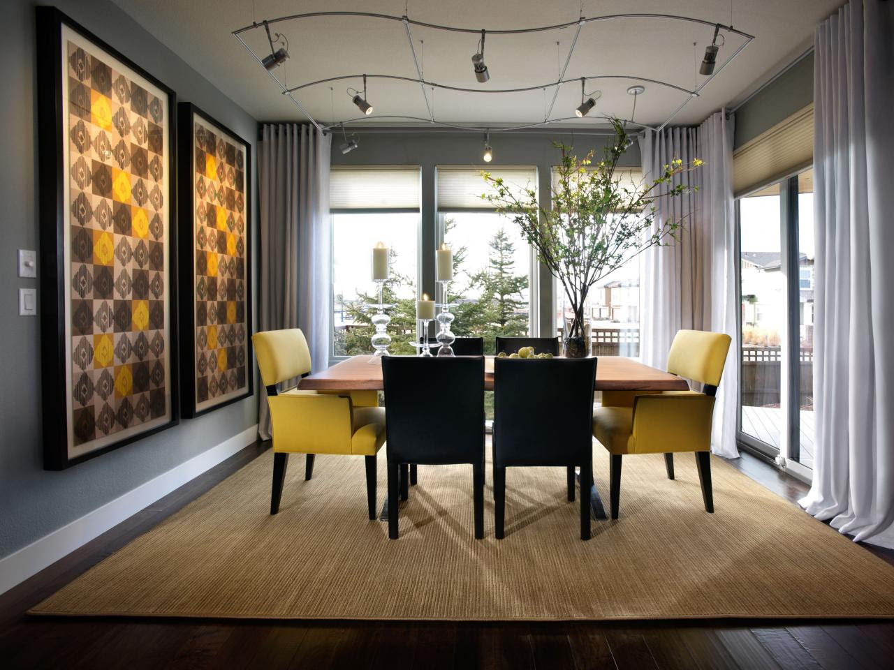 26++ Beautiful photos of design decisions  Grey And Yellow Dining
