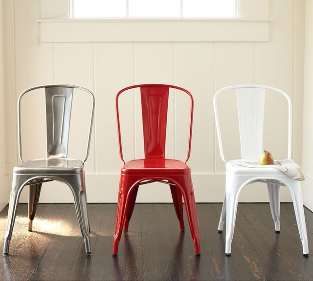 Tolix Café Chair - modern - dining chairs - by Pottery Barn