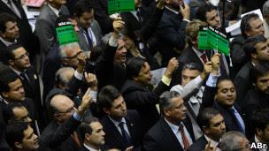 Congresso Nacional analisa vetos da presidente à lei dos royalties (Foto: Fábio Rodrigues Pozzebom/ABr)