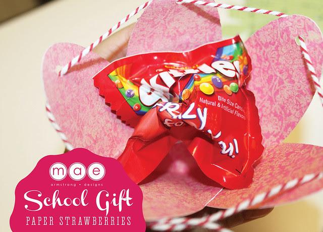 Paper Strawberries - School gift3