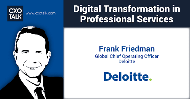 RT @cxotalk: Different infrastructure solutions for each member firm can prevent the company from behaving as one, integrated organization. https://t.co/xgAI9jvLXY -- Frank Friedman, #COO @Deloitte #CXOTalk @SAPAnalytics #SAPPHIRENOW #ENSW https://t.co/Db4BEEuOS1