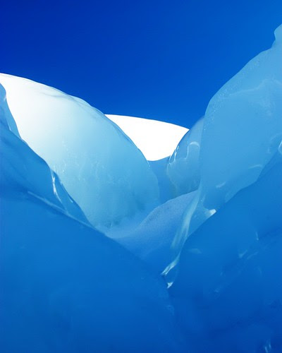 Blue Ice Abstract by dcclark