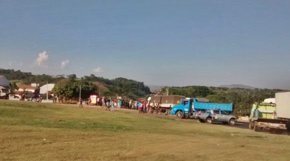 Local do acidente - foto: Miriam Trento / AGORA MT