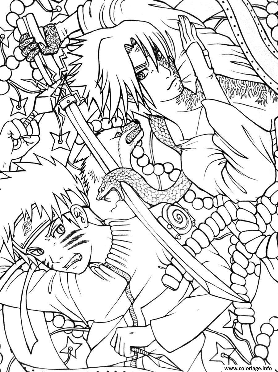 Coloriage Manga Naruto 46 Dessin  Imprimer