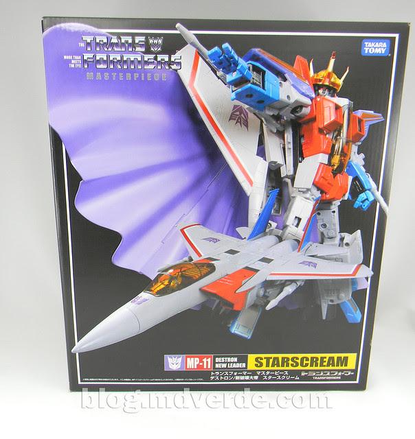 Transformers Starscream Masterpiece MP-11 - caja