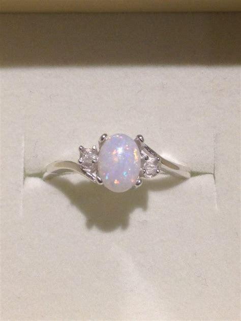 Australian Opal Ring   Genuine Orange and Blue Multicolor