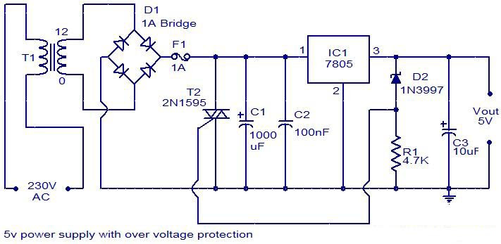 5v Regulated Power Supply Circuit Diagram Circuit Diagram