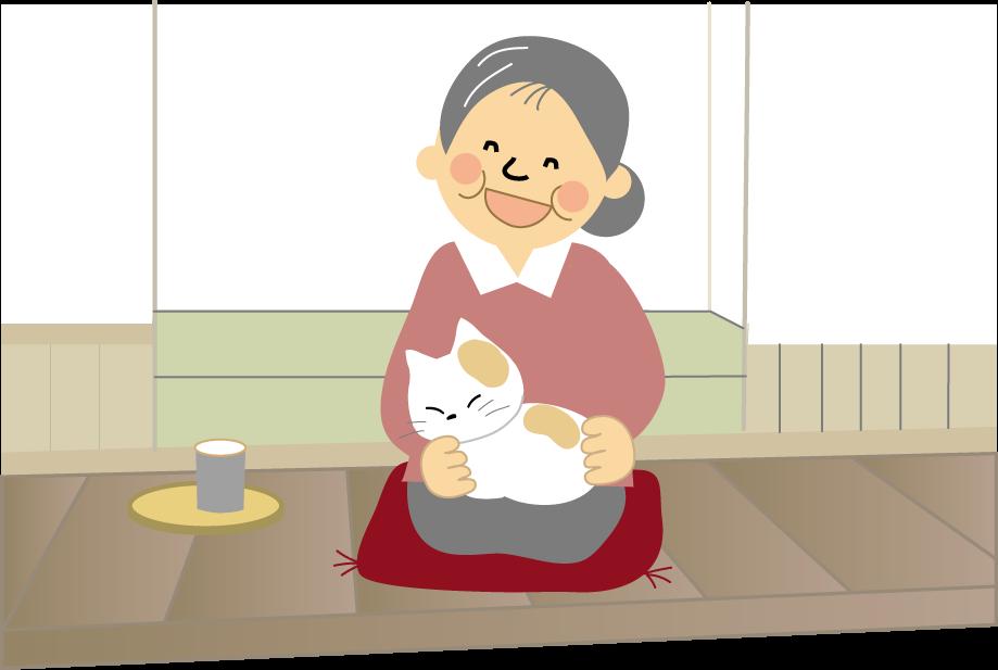 おばあさん老人 お年寄りのイラスト無料イラストフリー素材