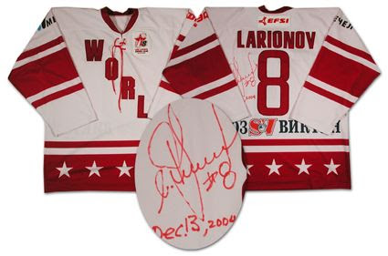 Larionov Team World 2004 jersey